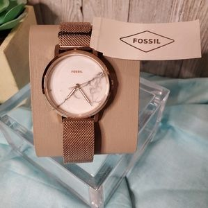 Women's Marble Fossil Watch NWT